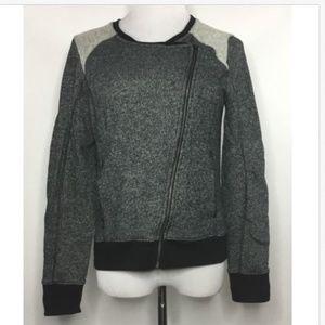 DKNY Jeans Womens Asymmetrical Zip Sweatshirt Q21